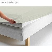 Простыня на резинке, размер 200х200х20 см, цвет молочный, трикотаж