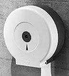 Диспенсер для туалетной бумаги Джамбо (Jumbo) белый пластик, фото 3