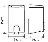 Дозатор (диспенсер) Vialli для жидкого мыла 500 мл.Белый цвет. Мыльница., фото 2