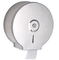 Диспенсер антивандальный для туалетной бумаги Джамбо (Jumbo) металлический серый держатель