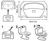 Диспенсер (держатель) для гигиенической бумаги (настил для унитаза) для крышки унитаза, фото 2