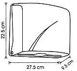 Диспенсер для бумажных полотенец Z укладка белый пластик Турция, фото 2