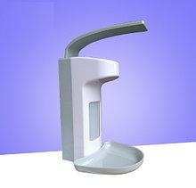 Медицинский локтевой дозатор c евроканистрой и поддоном (диспенсер) для антисептика и жидкого мыла 500 мл
