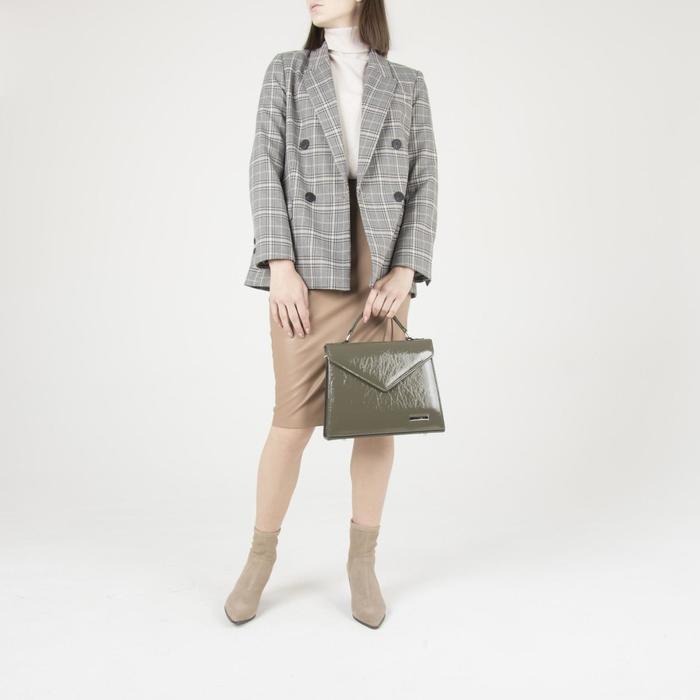 Сумка женская, отдел на клапане, наружный карман, регулируемый ремень, цвет хаки - фото 4