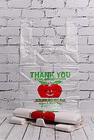 Пакет-майка яблоко 30*50 см