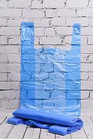 Пакет-майка синий 30*55 см