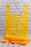 Пакет-майка жёлтый 32*56 см