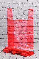 Пакет-майка красный усиленный 37*60 см