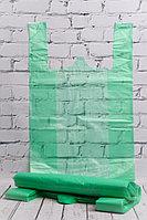 Пакет-майка зеленый усиленный 33*55 см