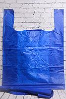 Пакет-майка синий/черный 61*90 см