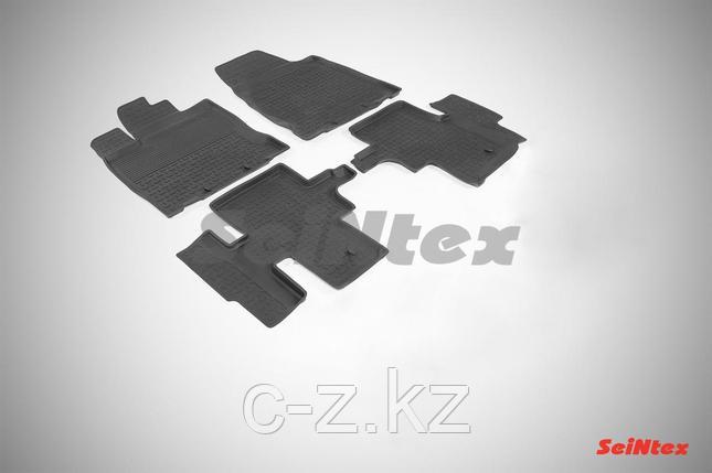 Резиновые коврики с высоким бортом для Nissan Pathfinder IV 2014-н.в., фото 2