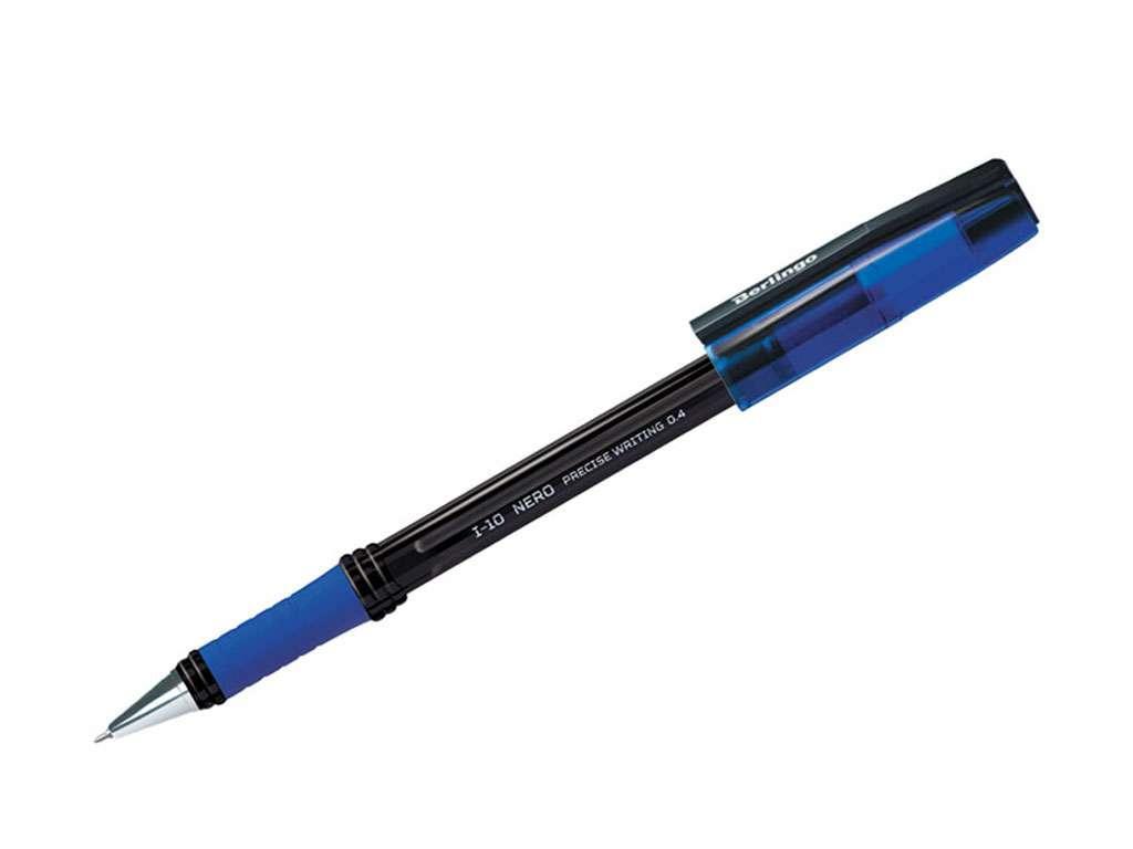 """Ручка шариковая BERLINGO """"I-10 Nero"""" 0,4 мм, синяя"""