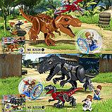 Конструктор 818 аналог лего Lego 2в1 Динозавры: 82028 Jurassic World (86 + 93 дет.) Мир Юрского периода, фото 3