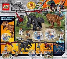 Конструктор818 аналог лего Lego 2в1Динозавры: 82028 Jurassic World (86 + 93 дет.) Мир Юрского периода