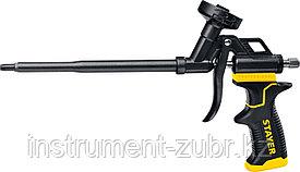 Профессиональный пистолет для монтажной пены STAYER BLACK PRO, с полным тефлоновым покрытием