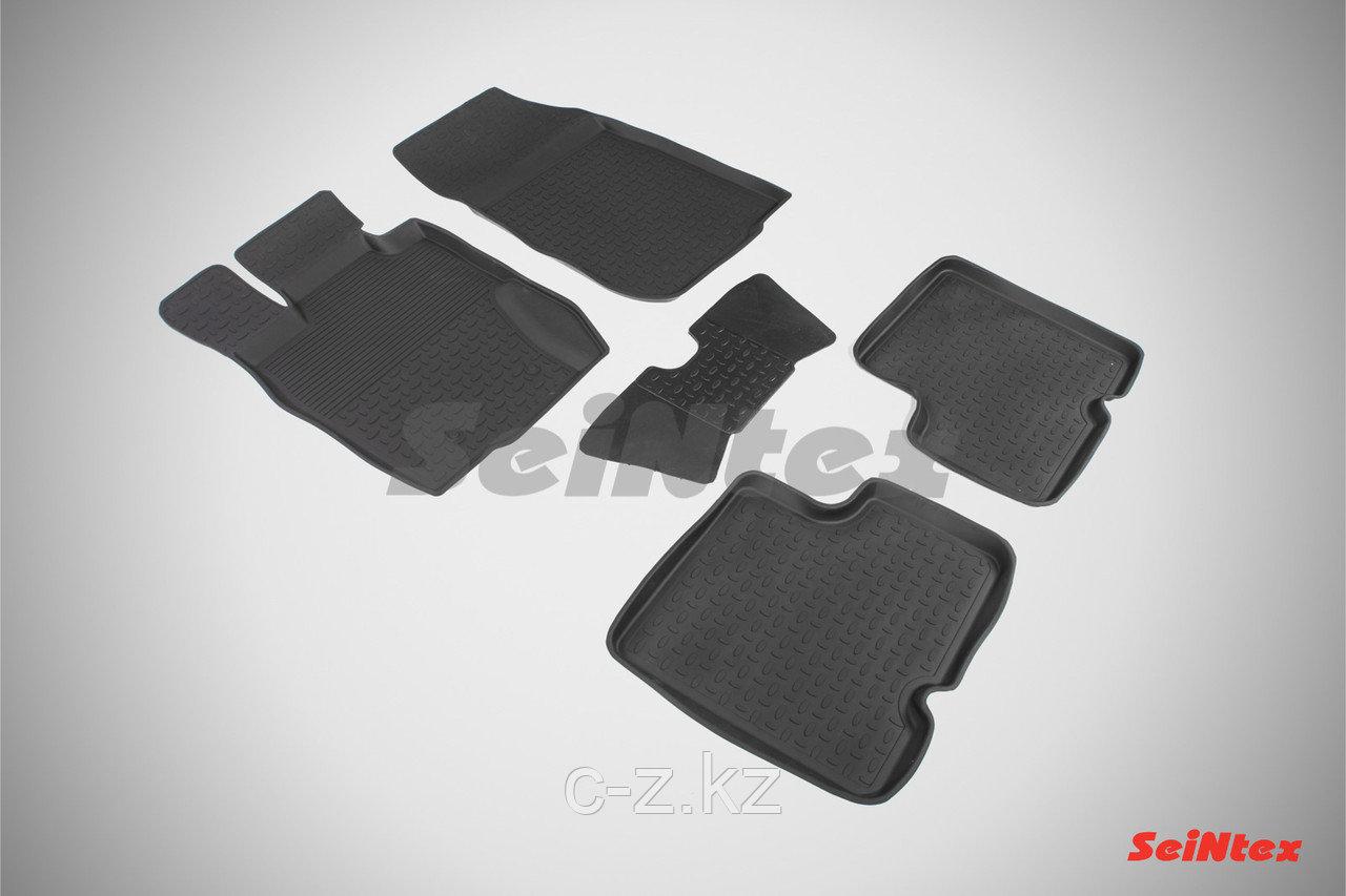 Резиновые коврики с высоким бортом для Nissan Terrano III 2014-2015