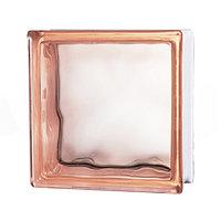 Стеклоблок прозрачный Cloudy, розовый JH015