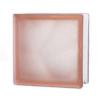 Стеклоблок матовый Misty cloudy, розовый JH043