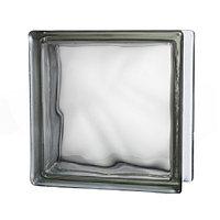 Стеклоблок прозрачный Cloudy, серый JH013