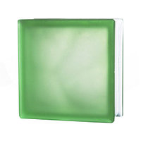 Стеклоблок матовый Misty Cloudy, зеленый JH044