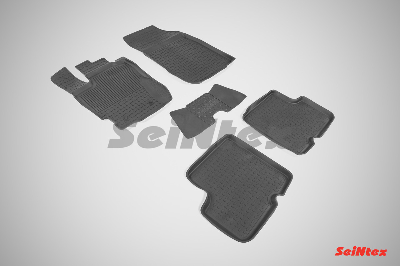 Резиновые коврики с высоким бортом для Nissan Terrano III 2015-н.в.