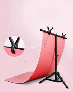 Т образный Комплект стоек - каркас 75 см × 66 см  для студийного бумажного фона, фото 2