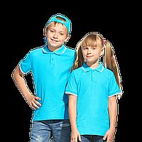 Детские однотонные рубашки поло под нанесением логотипа