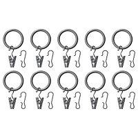 Гардин кольцо СИРЛИГ серебристый 25 мм ИКЕА IKEA