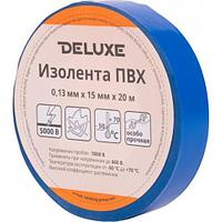 Изолента Deluxe ПВХ 0,13 х 15 мм Синяя