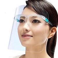 Экран защитный для лица на очковой оправе
