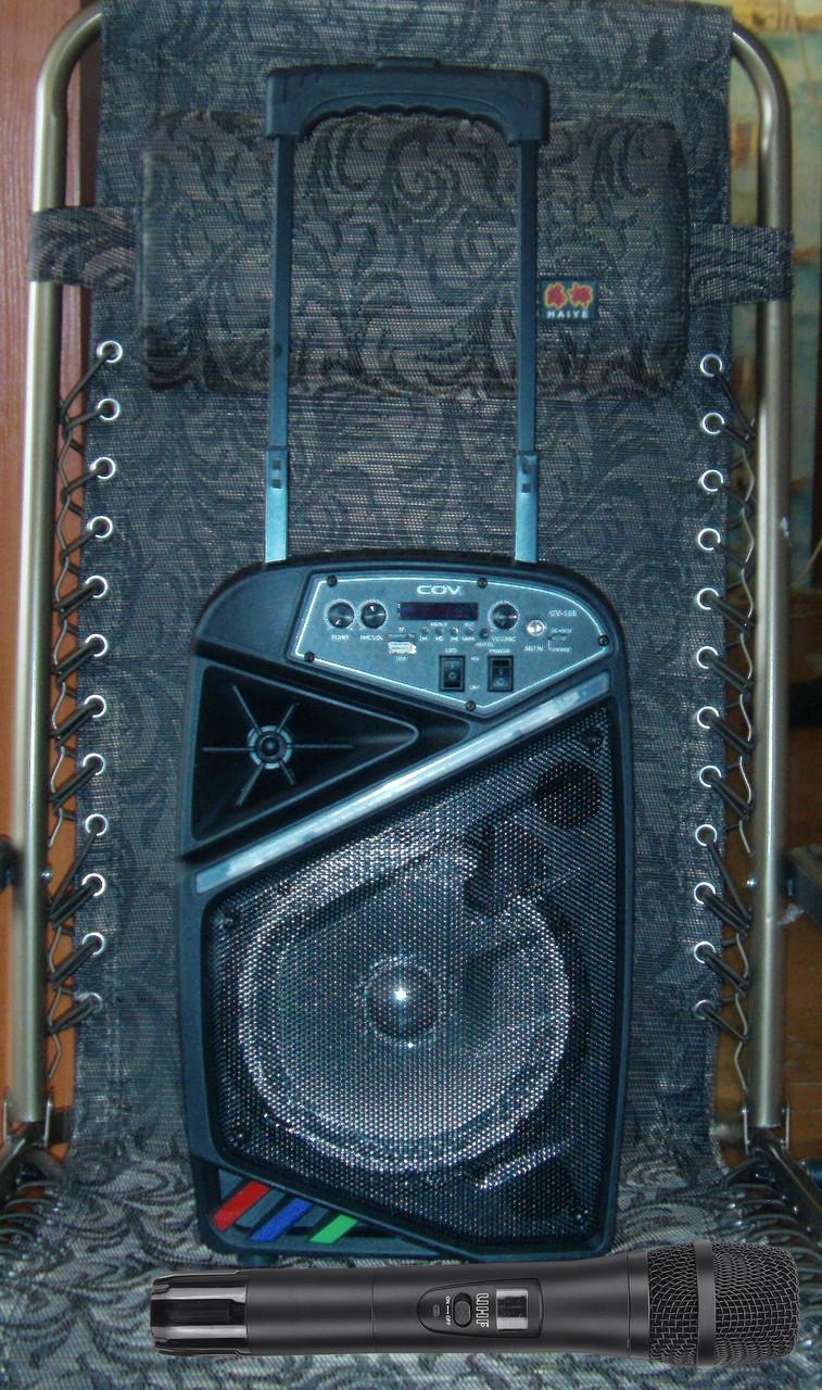 Колонка караоке беспроводная с беспроводным микрофоном Cov-108. В описании есть видео обзор колонки! - фото 3