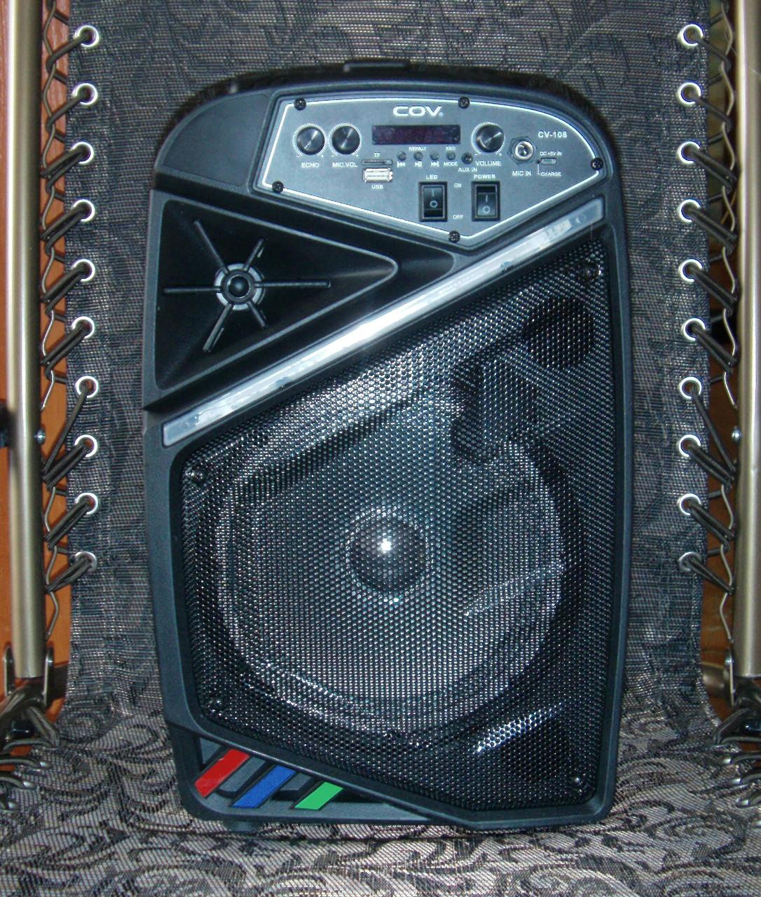 Колонка караоке беспроводная с беспроводным микрофоном Cov-108. В описании есть видео обзор колонки! - фото 2