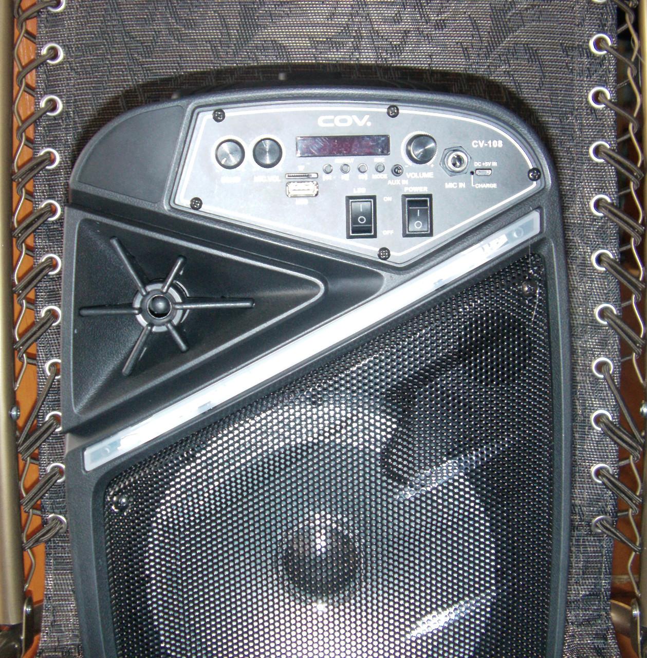 Колонка караоке беспроводная с беспроводным микрофоном Cov-108. В описании есть видео обзор колонки! - фото 4