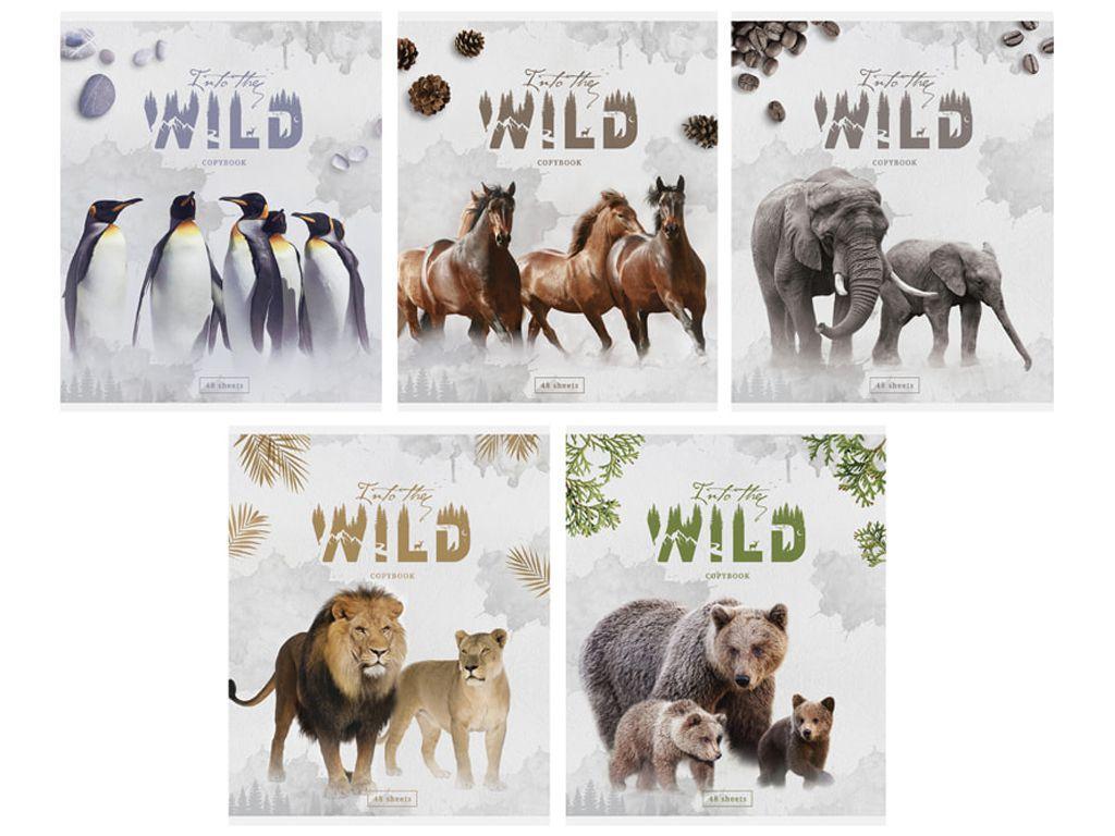 """Тетрадь общая ArtSpace """"Животные. Into the wild"""", А5, 48 листов в клетку, на скрепке"""