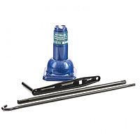 Домкрат механический бутылочный, 2 т, h подъема 210–390 мм, 2 части (домкрат, ручка) Stels