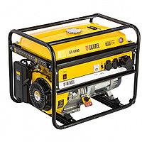Генератор бензиновый GE 6900, 5.5 кВт, 220 В/50 Гц, 25 л, ручной старт Denzel