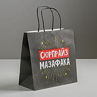 Пакет подарочный «Сюрпрайз», 22 х 22 х 11 см, фото 1
