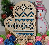 "Подарочная коробка ""Варежка"" (деревянная), фото 6"