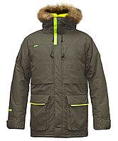 Куртка мужская утепленная, мех, 50 размер, цвет хаки