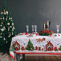 """Набор столовый """"Новогодняя сказка"""" скат.150х110см +/-3см с ГМВО, салф.40х40см-4 шт, хл100%, фото 1"""