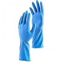 Перчатки хозяйственные латексные c двойным хлопковым напылением, M, Сибртех