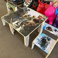 Детский стол с двумя стульчиками Черепашки Ниндзя
