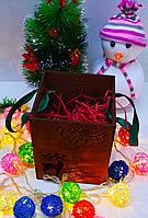 """Подарочная коробка """"Северный олень"""" с надписью (деревянная), фото 3"""