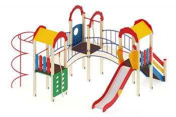 Детский игровой комплекс «Городок» H=1200