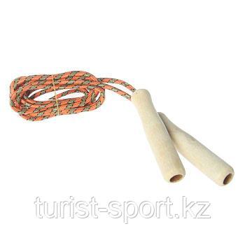 Скакалка с деревянными ручками, 2,55 м, цвета МИКС