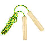Скакалка с деревянными ручками, 2,55 м, цвета МИКС, фото 4