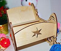 """Подарочная коробка """"Волшебные сани"""" (деревянные), фото 2"""