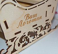 """Подарочная коробка """"Волшебные сани"""" (деревянные), фото 3"""