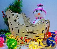 """Подарочная коробка """"Волшебные сани"""" (деревянные), фото 5"""