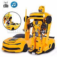 Автобот трансформер Бамблби с пультом управления и аксессуарами Машинки на радиоуправлении (2313 Р)